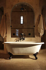 Double Ended Cast Iron Bath + DeckTaps & Waste/Trap Kit 1700 With TH
