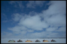 697027 A Ski doo Expedition To Geoges River Across A Frozen Lake A4 Photo Print