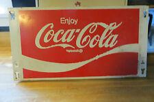 Enjoy Coca-Cola store rack display advertising soda pop logo steel sign