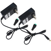 Pack of 2 12V 3A 36W AC to DC Adapter Power Supply for 5050 LED Light Strip 3528