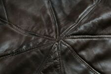 GENUINE REAL BROWN QUALITY LEATHER TURKISH UNSTUFFED POUFFE...BRAND NEW