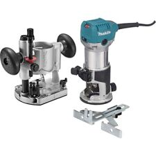 Makita Compact Router Kit 6.5A Plunge Base Collet Base Straight Guide Wrenches