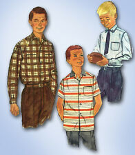 1950s Vintage Simplicity Sewing Pattern 2212 Classic Little Boys Shirt Size 12