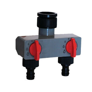 Garden/Yard Two-Way Out Water Distributor Valves Tap/Hose Pipe Fittings
