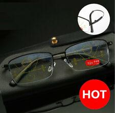 Titanium Alloy Progressive Multifocal Anti Blue light Distance Reading glasses