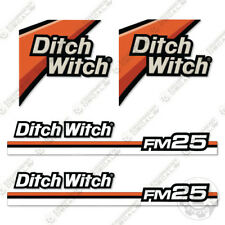 Ditch Witch FM25 Decal Kit Fluid Mixing System Replacement Decals FM 25 FM-25
