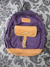 VTG Jansport Purple Nylon Canvas Leather Backpack 90s nice Bag