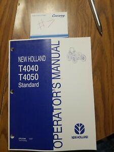 New Holland  T4040 T4050 Standard Tractor Operators Manual 2007 87615348