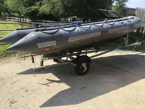 Avon searider 5.4 rib boat project with console and trailer