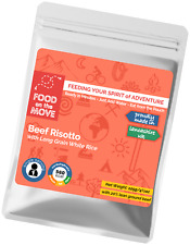 Food Supplies: Lightweight Dehydrated Pouched Meal - Beef Risotto - Camping etc.