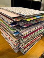 Scrapbook Paper 8 1/2 x 11 - Mixed Lot 50 Sheets