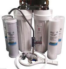 PREMIUM Twin Undersink Water Filter System AUS Watermark Stnd + FREE Filters!