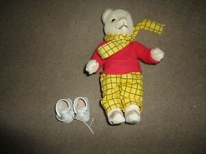 GENUINE VINTAGE MERRYTHOUGHT RUPERT BEAR LABELED OWNED FROM NEW LOVELY & CLEAN