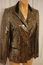 NWT TAHARI Soraya Jacket Gold Multi Size 8