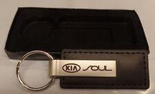 Stylish Limited Supply Black Leather Kia Soul Laser Cut Keyring Key Chain