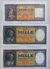 1.000 lire ORNATA di PERLE + 500 LIRE SPIGHE (COPIE)