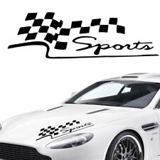 Black Auto Decal Racing Car Stickers Sport Styling Vinyl Car Body Sticker Decor