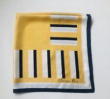Carré en soie motifs abstraits géométriques CHRISTIAN DIOR vintage