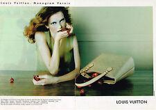 PUBLICITE ADVERTISING 094  1998  LOUIS VUITTON sacs MONOGRAM VERNIS  (2p)