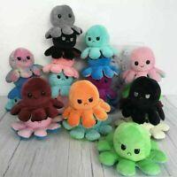 Flip Happy/Sad Octopus Plush Stuffed Toy Soft Animal! MUST BUY!!!
