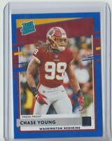 2020 Donruss Rated Rookie #316 Chase Young PRESS PROOF blue RC