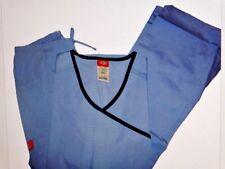 Dickies Medical Scrub Set  Ceil Blue/Navy Trim XS New With Tag
