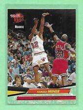 1992-93 Fleer Ultra Basketball Harold Miner RC #293 & Michael Jordan