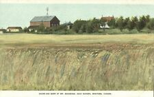 canada, MORDEN, Manitoba, House and Barn of Mr. Bradshaw (1910s) 160 Acre Farms