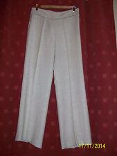 "Lovely Principles creamy colour viscose/ linen UK 12 trousers 31"" legs, 32 waist"