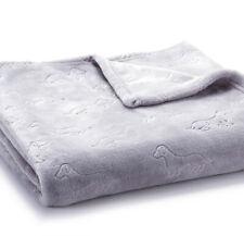 "Nwt Gray Plush Throw Dachshund Dog Blanket 50"" X 60"" - Polyester"