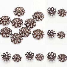 100pcs/Lot Antique Bronze Iron Flower Bead Caps DIY Jewelry Findings 9x4mm
