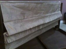 "DORMA ROMAN BLIND LARGE 60"" W BEIGE 100% SILK LINED IN IMMACULATE CONDITION"