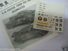 PORSCHE 934 TURBO 1976 JAGERMEISTER DECALS 1/43
