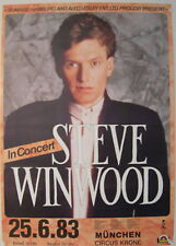 Steve Winwood Concert Tour Poster 1983 Talking Back To The Night Traffic