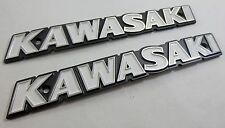NOS KAWASAKI 1973 Z1 900 Fuel Tank Emblem Set Left & Right w/ Screws