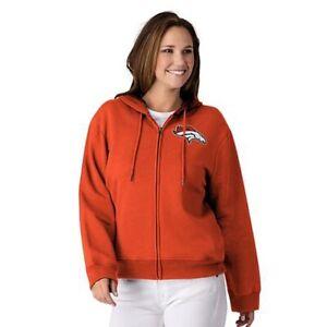 NFL Denver Broncos Officially Licensed Women's Full Zip Hoodie G-III Orange