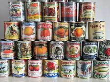 Retro replica large storage tin can vintage kitchen decor cutlery flowers gifts