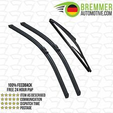 Peugeot 407 Estate (2004 to 2011) Wiper Blade Complete Set X3 Front Rear