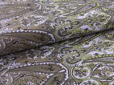 0,5 M Cotton Satin Fabric Vintage Oriental Ornament Pattern Green