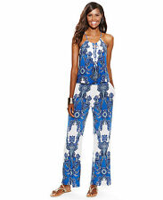 INC International Concepts dress jumpsuit halter paisley print XL $90