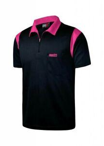 One80 Dart Shirt In Schwarz/Pink Größe XXL