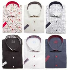 Men's Short Sleeve Regular Collar Fitted Casual Shirts & Tops ,no Multipack