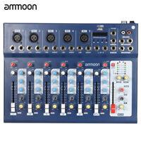 ammoon F7-USB 7-Channel Console di mixaggio audio 3 bande Eq DJ Karaoke