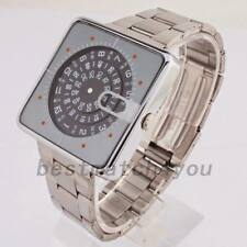 1970s Vintage Retro Lip Mythic Style Digital LED LCD era Watch Jump Hour Square