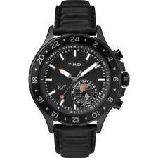 Reloj de Hombre TIMEX IQ TRAVEL TW2R39900 Cuero Negro GMT