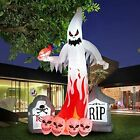 9FT Halloween Inflatable Ghost Tombstone Skull Combination with Flashing LED
