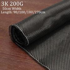 3K 200gsm Real Plain Weave Carbon Fiber Cloth Carbon Fabric Tape 20'' x 72''