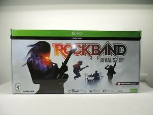 Rock Band 4 Rivals Band Kit Game Guitar Drums XBOX ONE Working With Box