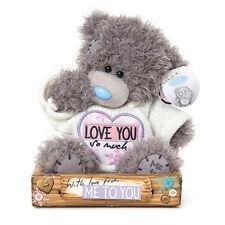 Peluches orso AMORE LOVE YOU SO MUCH idea regalo romantica circa 13 cm