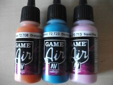 Nail Art Airbrush Paint Set 3 x 17ml bottles  Orange ,Pink and Blue acrylics